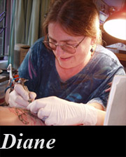 Diane, Tattoo by Design